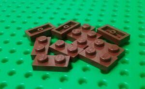 NEW-Lego-Brown-Bricks-1x2-Stud-Plates-Trees-Plants-Star-Wars-10-pieces