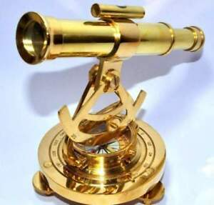 SOLID BRASS NAUTICAL BEAUTIFUL ALIDATE TELESCOPE WITH COMPASS SHIP INSTRUMENT.