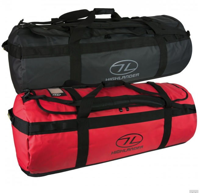 Highlander Lomond Cargo Tarpaulin Duffle Bag Sports Travel Cargo Lomond Boat Sailing Holdall cab5ef