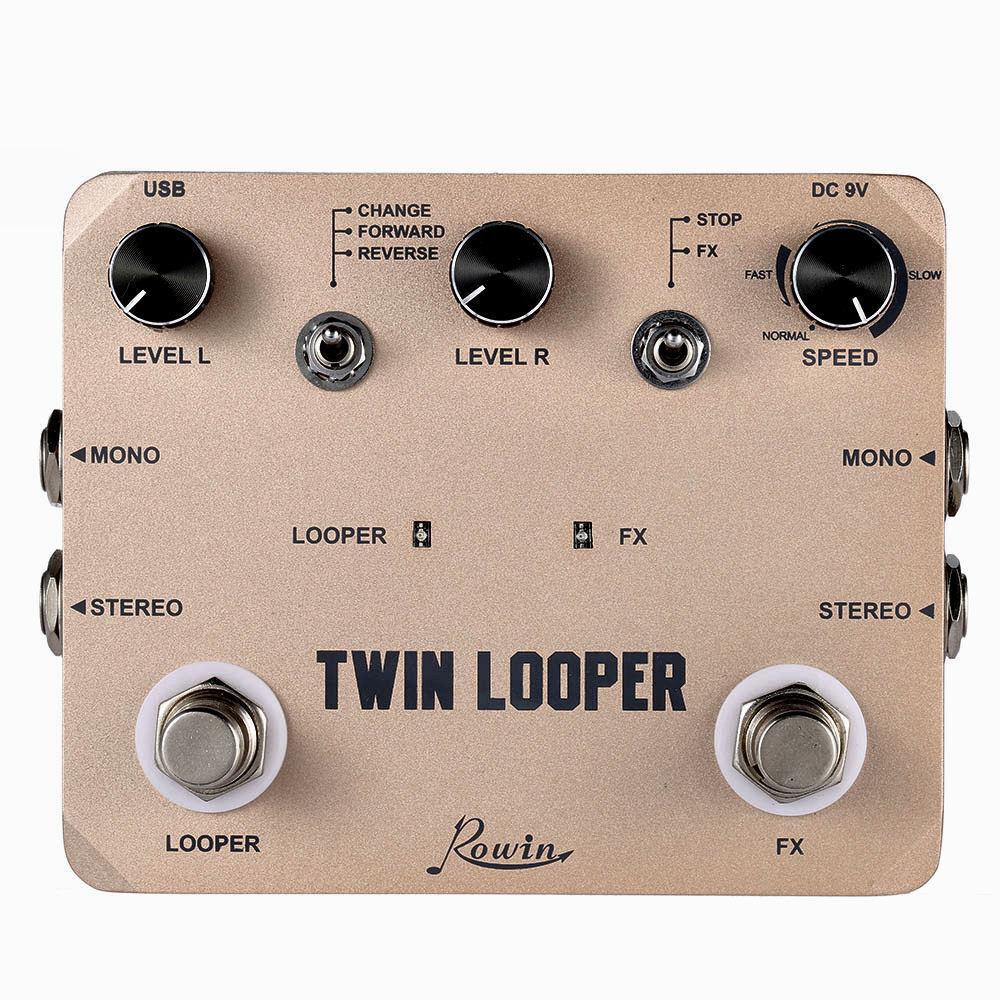 Rowin Rowin Rowin LTL-02 Twin Looper y grabación Efecto de Guitarra Pedal  colores increíbles