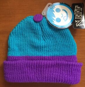 Knit Beanie Neff Unisex Surf Snowboard Skate Purple Turquoise Soft New Tag