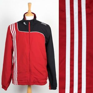 553b34b6 MENS ADIDAS TRACKSUIT TOP JOG JACKET RED AND BLACK WARM UP JOG RUN L ...