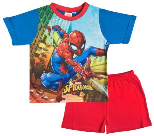 Pantalones Cortos Tamaño Spiderman Pijamas Superhéroe Marvel Shortie Pijama Conjunto de 2 Piezas Camiseta