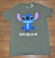 Disney Lilo & Stitch Short Sleeve Crew Neck T-shirt Juniors Tee Licensed