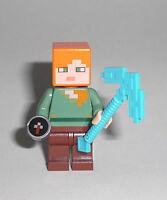 LEGO Minecraft - Alex mit Kompass - Figur Minifig Compass Pilzinsel Steve 21129