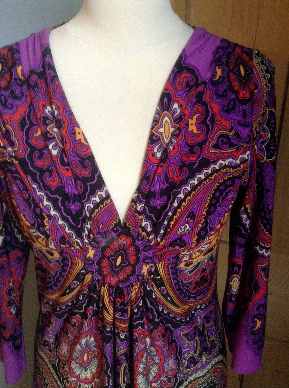 Hermoso Vestido De Poliéster P; urple por S Wallis Tamaño S por e26c73