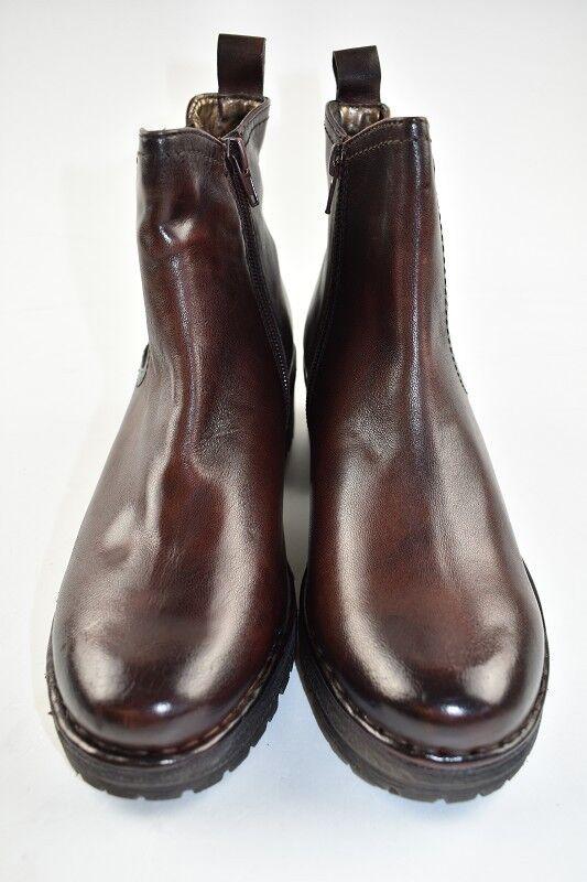 Bugatti botas de cuero marrón medio en la talla 37