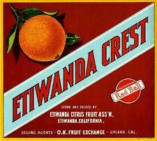 Highland San Bernardino Everybodys Orange Citrus Fruit Crate Label Art Print