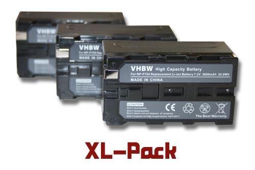MiniDV 3x BATERIA 3600mAh PARA SONY DCR-VX DCR-VX1000 DCR-VX2000