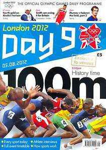 OLYMPIC GAMES DAY 9 NINE DAILY PROGRAMME LONDON 2012