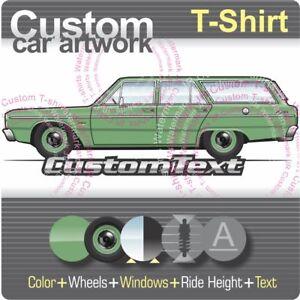 Details about Custom T-shirt 1968 69 70 1971 Chrysler Valiant VE VF VG  Safari VIP Regal wagon