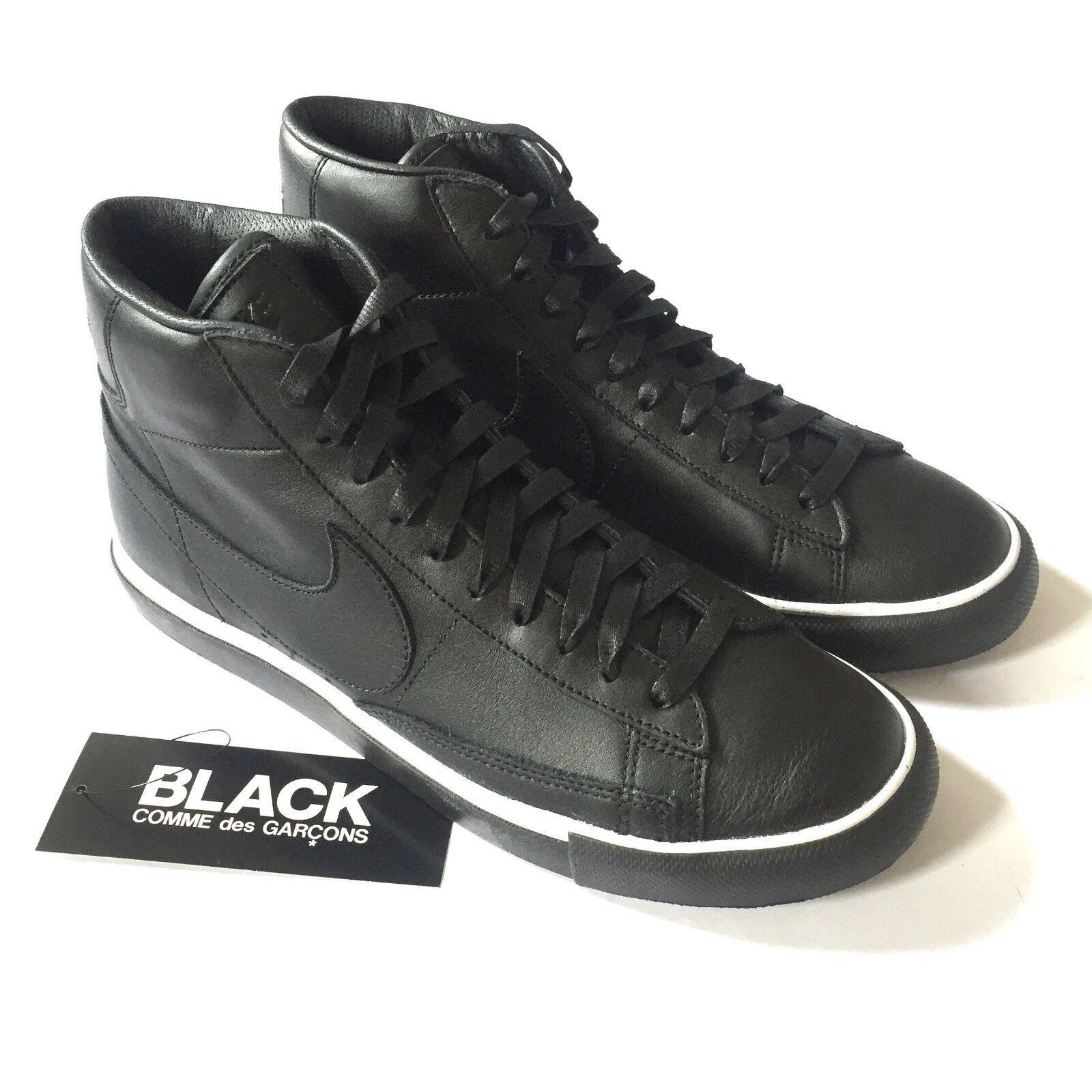 Nwt comme des garcons nike cdg giacca nera alta scarpa vera pelle.