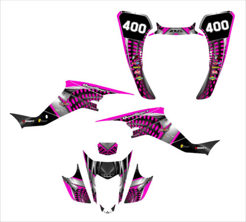 LTZ400 KFX 400 graphics decal kit 2003-2008 thick pliable 24 mil #7777 Hot Pink