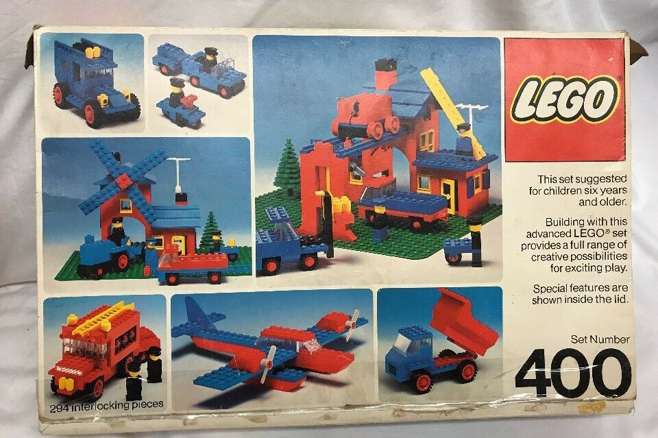 Vintage 1976 Lego Universal Building Set 400  Incomplete in Box Missing Pieces