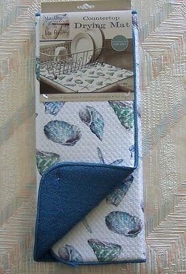 Seashells Drying Mat Kay Dee Beach House Seashells Pattern Reversible