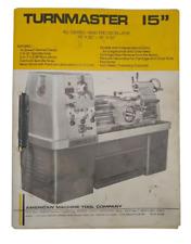 American Machine Tool Co Turnmaster 15 Precision Lathe Manual