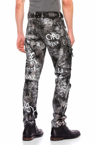 Cipo /& Baxx BEND Herren Jeans Denim Slim Fit CD572 alle Gr Neu