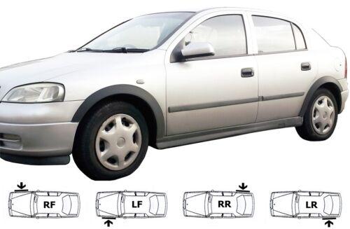 OPEL Astra G Negro Cubierta Arco de rueda trim Conjunto de 4 piezas de izquierda derecha Fender/' 98-05