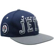 NHL Winnipeg Jets Zephyr Snapback Hat Superstar Blue Cap One Size Hockey