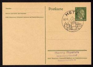 Ganzsache-METZ-Cachet-Special-26-02-43-WW2-Entier