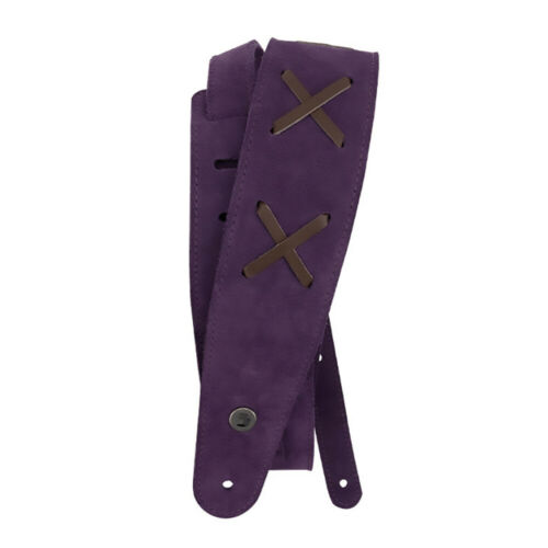 Purple 2.5 Inches Wide Planet Waves 25VJH00 Vintage Suede Guitar Bass Strap