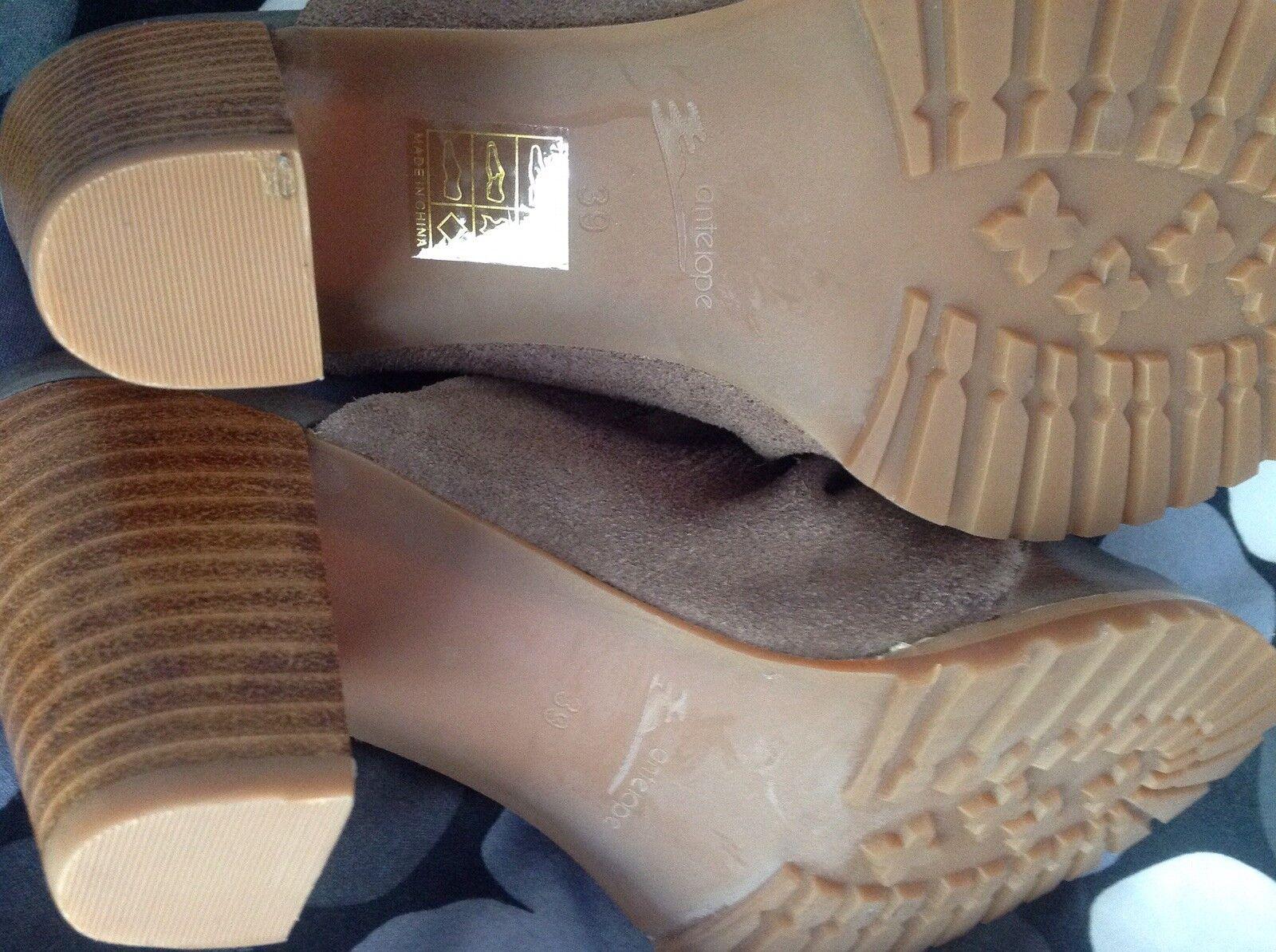 Antelope damen Mules Clogs High Heel Slip On schuhe braun MRP Größe 39, 7 - MRP braun  189 535da4