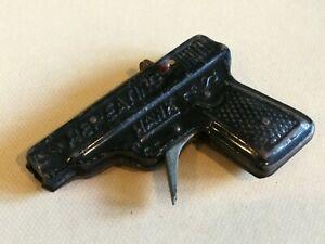GIOCATTOLO IN LATTA PISTOLA REPEATING HAWK JAPAN WESTERN TIN TOY GUN