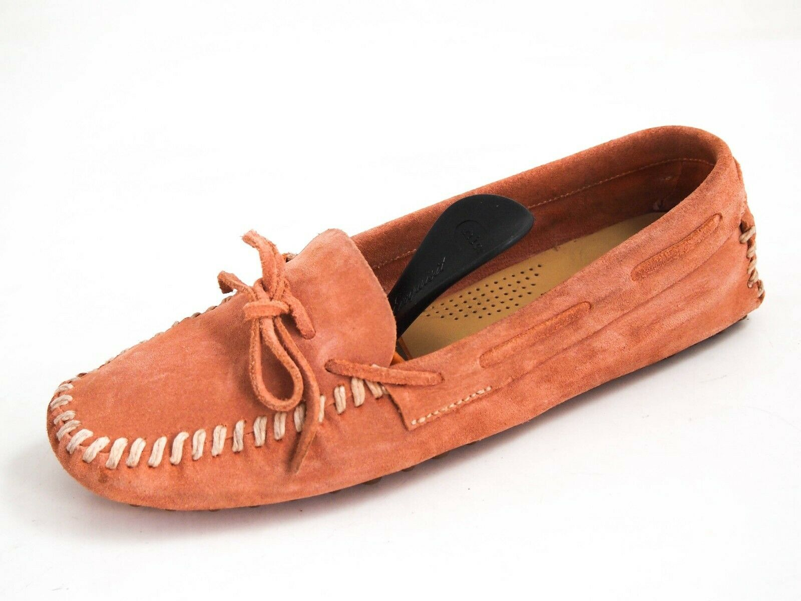 Car schuhe Gommino Driving Loafer Orange Wildleder Damen Größe EU 38 UK  380