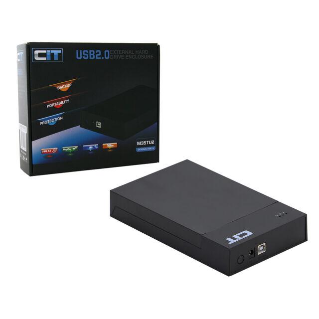"CiT 3.5"" USB 2.0 Sata HDD Enclosure Tooless Disk Drive Caddy MR35TU2"