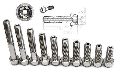 Titan Schraube M5 x 8 10 12 14 16 18 20 22 25 30 35 45mm konisch DIN 912 Grade 5
