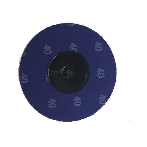 """200-3/"""" Roloc Zirconia Quick Change Sanding Disc 40 Grit and Mandrel"""