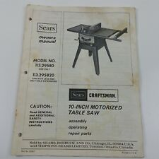 10 Inch Sears Craftsman Table Saw Model For Sale Online Ebay