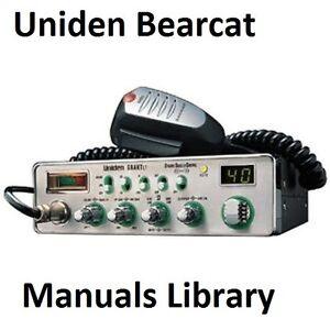 uniden bearcat service instruction manual library cdrom pdf ebay rh ebay com au