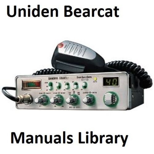 PDF Uniden Bearcat Service /& Instruction Manual Library CDROM