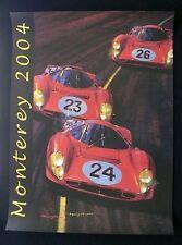 1967 24 Hours Daytona FERRARI 330 P3 P3/4 412 P 2004 Monterey Poster ROWE SIGNED