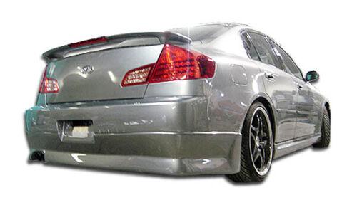 03-04 Fits Infiniti G Sedan 4DR GT Comp Duraflex Rear Bumper Lip Body Kit 100471