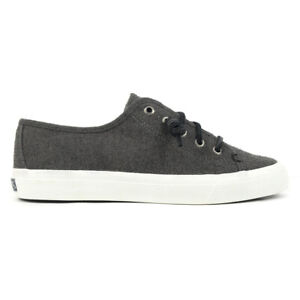 Sperry Top-Sider Women's Seacoast Wool Dark Grey Boat Shoes STS80639 NEW!