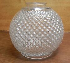 "5-1/4""x 2-1/8"" GLASS SHADE w/ SMALL SPIKES LIKE DESIGN CLEAR RIM & TOP 5-5/8""W"
