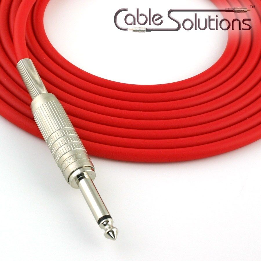 Canare GS-6 Low Noise OFC Guitar Instrument Cable, Hand-Crafted, 9m, Red