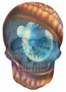 Gothic-Skull-Double-Exposure-Fantasy-Dragon-Eye-Space-View-Sticker-Mural-691