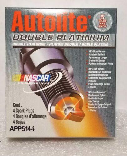 Lot of 4 APP5144 Double Platinum Autolite Spark Plugs