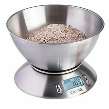 CAMRY 11lb/5kg Digital Kitchen Scale Compact Diet Food 1g Stainless Steel Bowl