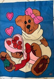 """VALENTINE'S DAY FLAG 28"""" X 40"""" INDOOR//OUTDOOR DECORATIVE HEARTS MULTI COLORS WOW"""