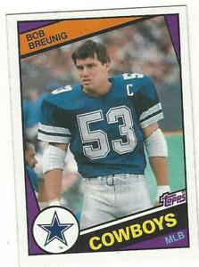 BOB-BREUNIG-1984-Topps-236-NM-MT-NFL-Dallas-Cowboys