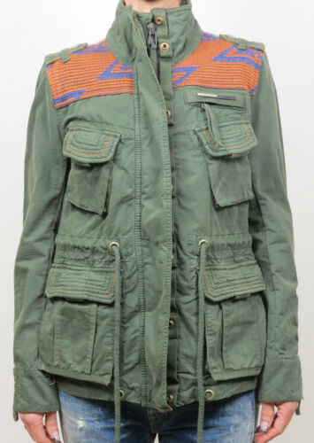 Battaglia Gs5it101 Superdry Aztec jacket Nuovo Verde Gwb Giacca qvRvgX