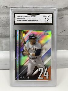 2020 Topps Chrome Update A Numbers Game Refractor WILLIE MAYS #NGC-18 GMA 10