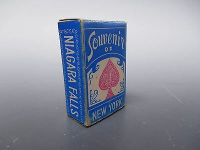 Souvenir of Niagra Falls New York Deck of Cards Miniature 52 Cards Plus 2 Jokers