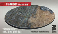 Flagstones - 170mm x 105mm Oval Resin Scenic Titan Base