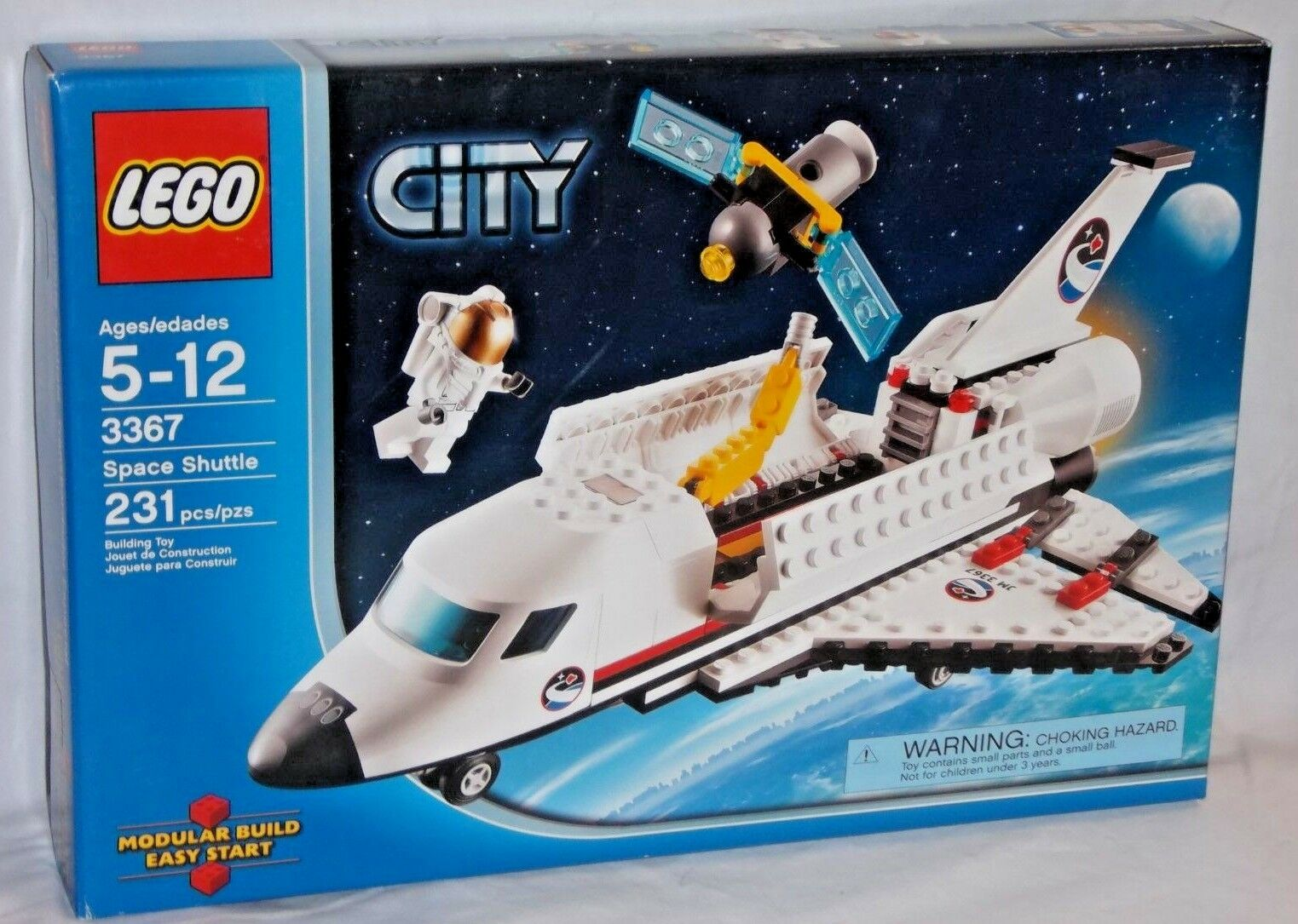 Scellé 3367  Lego City Space Shuttle Launch Pad astronaute Satellite 231 Pcs Set  juste pour toi