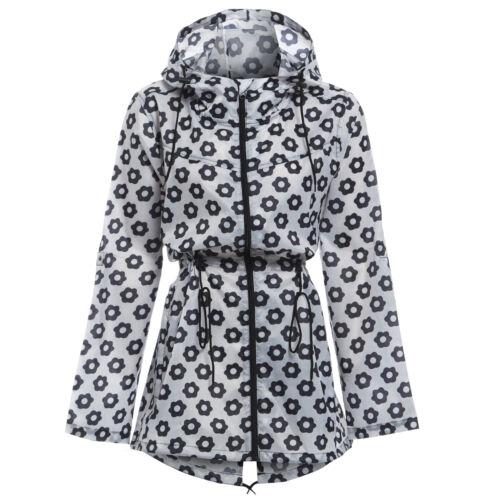 Womens Printed Mac Rain Jacket Kagoul Festival Parka Mac Coat Size